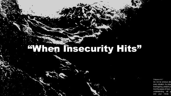 When Insecurity Hits Image